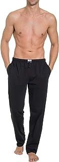 Pantalones largos para hombre con bolsillos laterales, punto individual, algodón orgánico puro, cintura elástica con cordón, certificado GOTS, fabricado en Europa