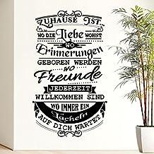 Wandora W1517 Muursticker Muursticker Citaat Spreuk Thuis Liefde Herinneringen Vrienden welkom glimlachen hal woonkamer zw...
