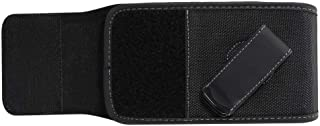DFV mobile - Holster Case Cover Nylon with Rotating Belt Clip for LEAGOO KIICAA MIX - Black