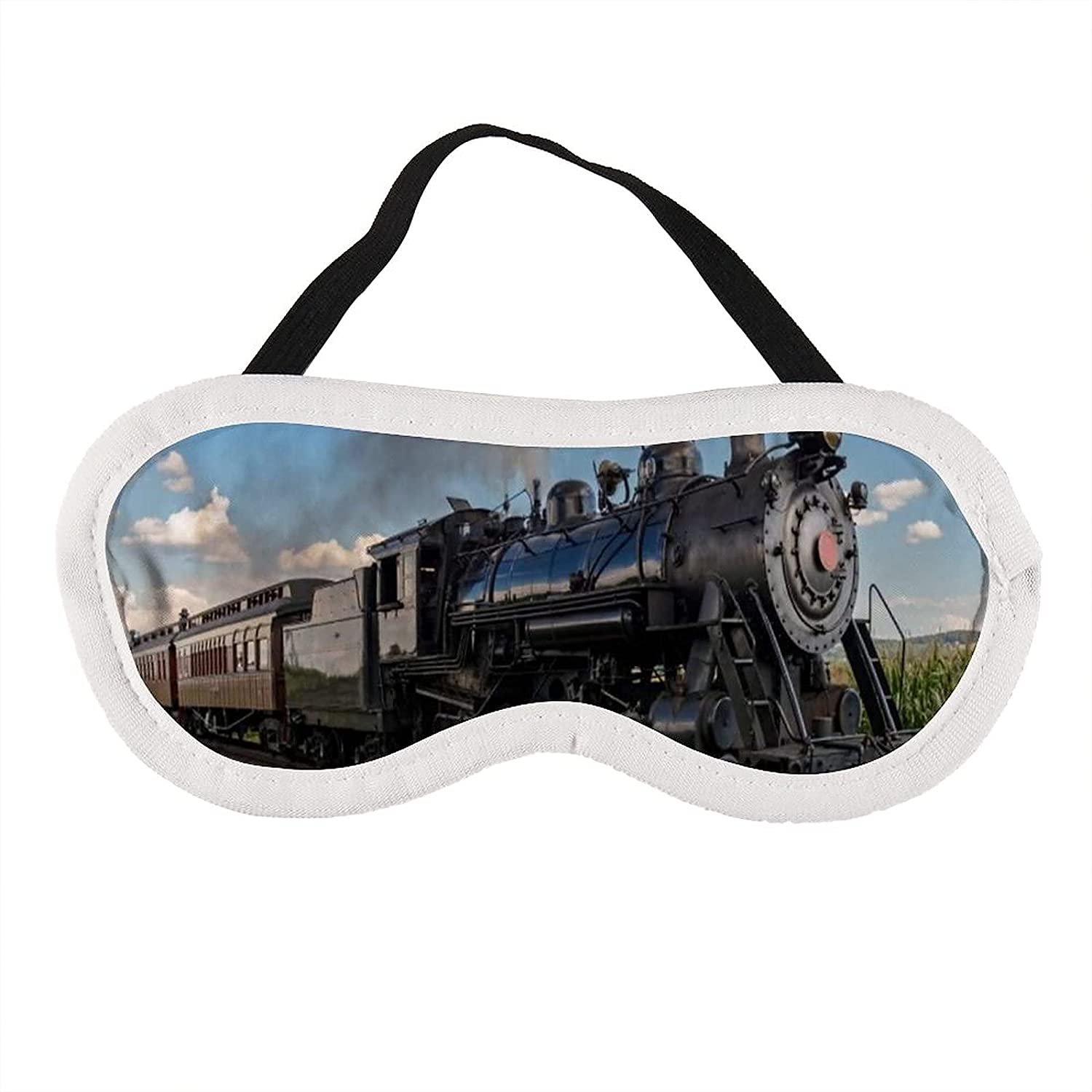 Vintage Locomotive in Countryside Scenery Train Grass Dealing full price gift reduction Green Puff