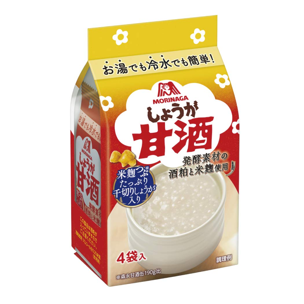 Morinaga Co. Amazake Ginger 4 bags Challenge the lowest price security of Japan ☆ x 5