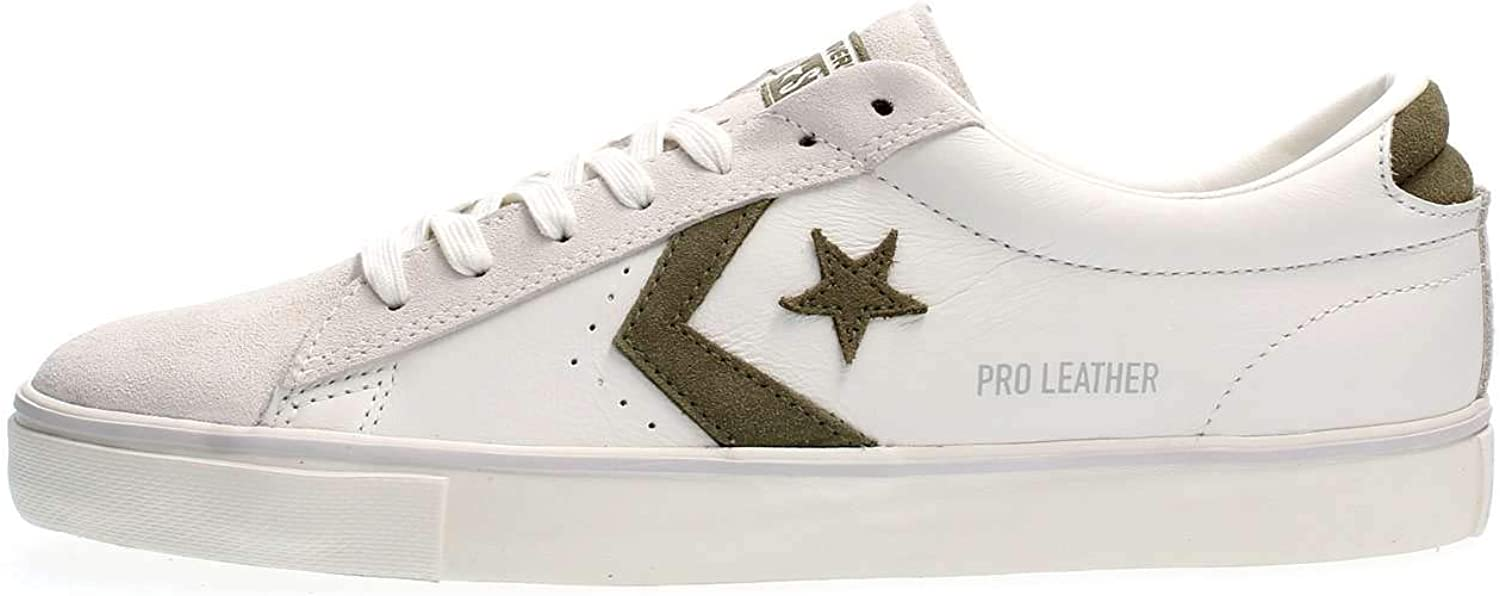 Converse 160927C White Green White shoes Man Laces Leather