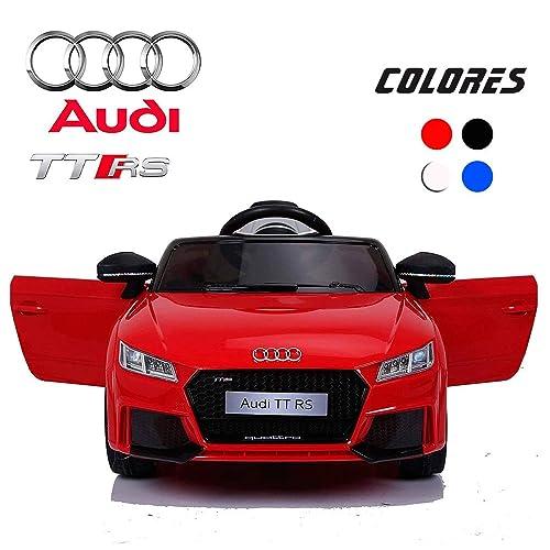 BC Babycoches-Coches eléctricos para niños 12 V, Licencia Oficial Audi TT RS,