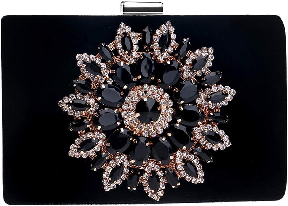 Women Elegant Evening Bag Clutches Purse Chain Wallet Handbag Rhinestones Party