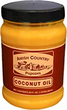 product image for Amish Country Popcorn | 30 Ounce Coconut Oil | Vegan, Tree Nut and Peanut Free (30oz Jar)