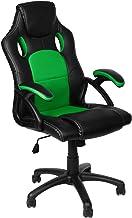 Panorama24 Gamer stoel, gamingbureaustoel, directiestoel, bureaustoel, ergonomisch, groen, 9 kleurvarianten, gevoerde arml...