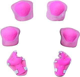 Protezioni da Polso per Bambini Ciclismo Sport Rosa Equitazione gomitiere Set di Attrezzi protettivi per Pattini a rotelle Skateboard Ginocchiere per Bambini Zerobox