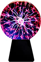 Lebbeen Glass Plasma Ball Sphere Lightning Light Lamp Party Magical Ball electrostatic Flashing Ball (4.0 Inches)