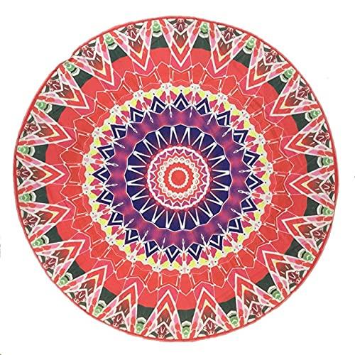 IAMZHL Toalla de Playa Redonda Absorbente de Verano Estilo Grande de Manta de círculo de Microfibra-a3