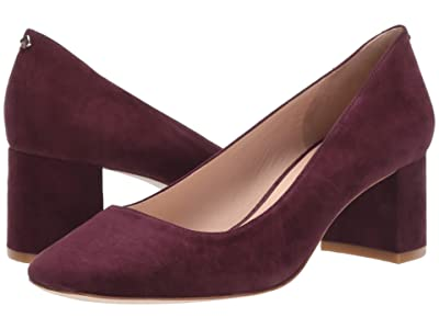 Kate Spade New York Kylah Block Heel Pump (Cherrywood Suede) High Heels