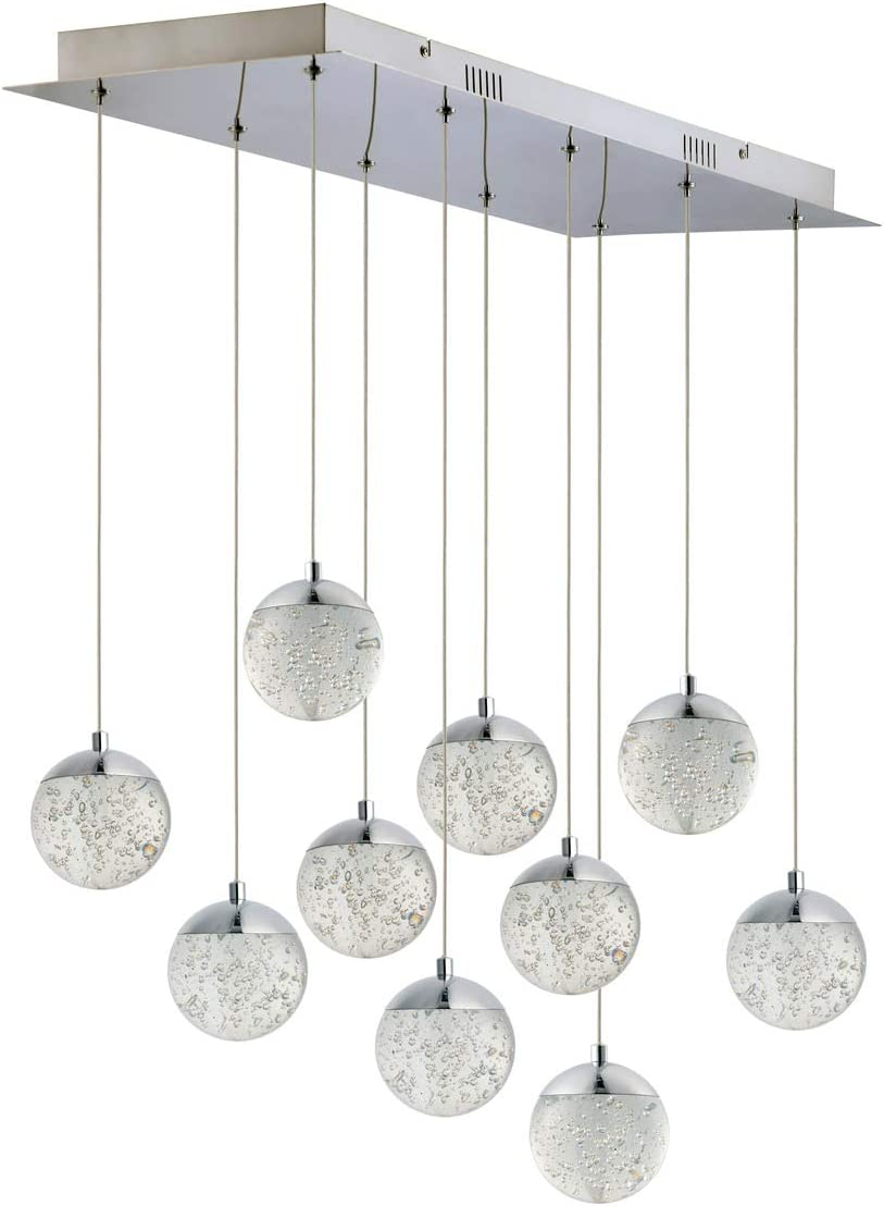 Pendants 10 Light Fixtures with and Polished Chrome Finish Steel Albuquerque Mall Weekly update