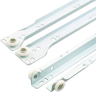 Prime-Line MP7210 Drawer Slide Kit, 15-3/4 in, Steel Tracks, White Powder Coat, 1 Set
