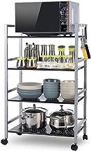 Estructura de tubo cuadrado extraíble, estante para microondas, estante de cocina de metal de acero inoxidable Nombre de estilo. talla plata