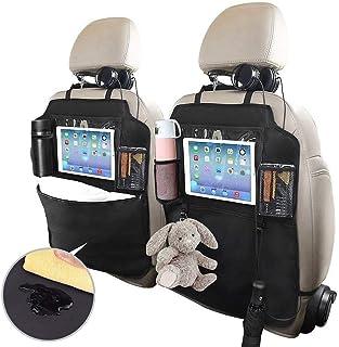 Multi-Pocket Car Hanging Storage Bag for Kids iPad Tablet Bottle Drink Olive Croft Sunflowers Funny Car Back Seat Organizer Auto Front Seat Protector