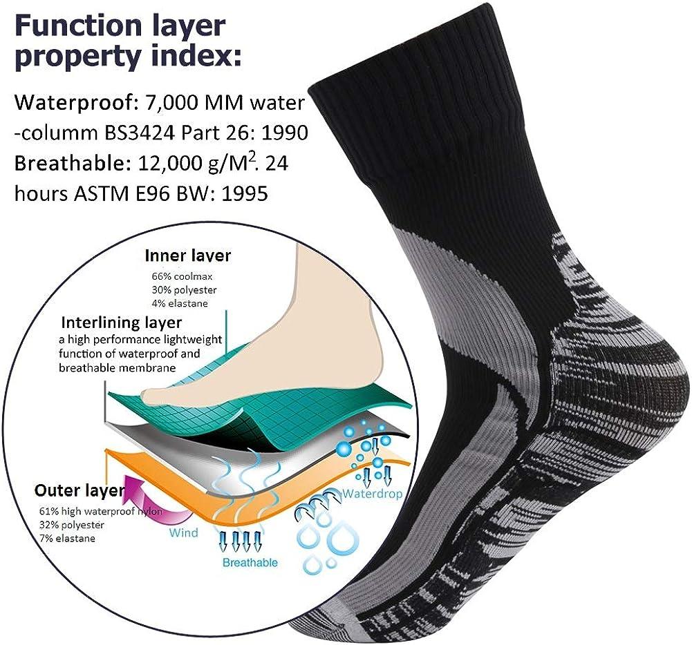 RANDY SUN Unisex Waterproof /& Breathable Hiking//Trekking//Ski Socks 2 Pairs SGS Certified
