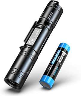 懐中電灯 LED フラッシュライト 超高輝度 USB充電式 5モード 完全防水 1200ルーメン ハンディライト CREE XPL2 LED 軍用 強力 停電 防災対策, 充電池 18650 付き【五年保証】