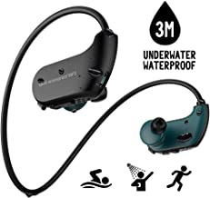 Aztine Waterproof MP3 Music Player, IPX8 Wireless Waterproof Headphones for Swimming, Playing for 6 Hours Underwater 3 Meters, 8GB Memory with Shuffle & Order Playing, Support Song List