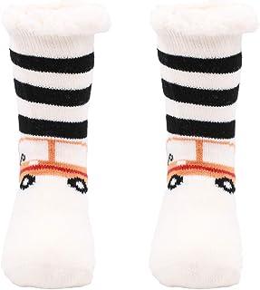Calcetines Antideslizantes Cálido Calcetines Invierno con suela Calcetin Zapatilla Gruesos Lana Calcetines de Piso para Niño Niña.23-26