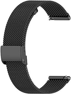 Husgrtyer YHM for Huawei GT2 42mm / Galaxy Montre 42mm / Galaxy Active2 en Acier Inoxydable Maille Montre-Bracelet Bracele...