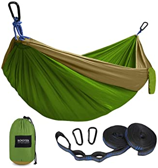 Backyard Lounging /& More Made of Durable Parachute Nylon with Free 9ft Tree Straps backpacking Dream Products International Premium Outdoor Nylon Camping Hammock Compact /& Portable for Camping Hiking with Tree Straps Lightweight