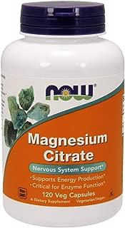 NOW Supplements, Magnesium Citrate, 120 Veg Capsules