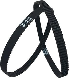 BEMONOC 2Pcs/Pack HTD 5M Rubber Timing Belts Closed-Loop 540mm Length 108 Teeth 15mm Width for Laser Engraving Machine