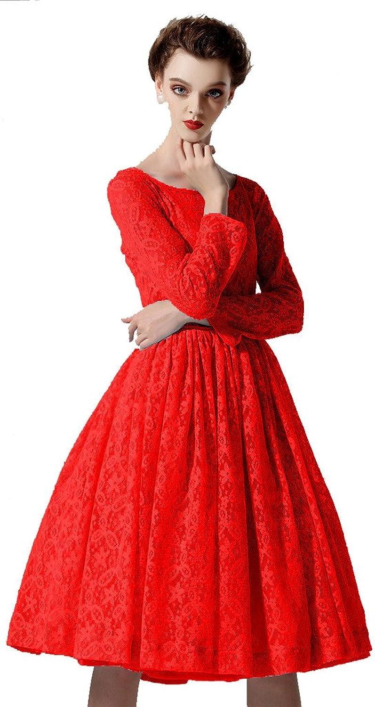 Angel&Lily Women's Long Sleeved ALIne Skirt Pleated lace Dress plus1x10x (SZ1652)