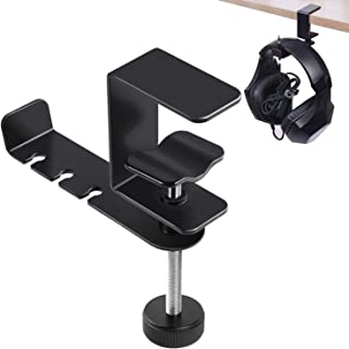 Simpeak Adjustable Headphone Stand Hanger Holder, 360 Degree Rotatable Aluminum Headphones Headset Clamp Hook Under Desk S...