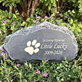 Claratut Personalized Pet Memorial Stone, Mountain Shape Pet Grave Marker Tombstone Garden Stone, Customizable Name&Datefor Dogs, Cats, Rabbits, Hamsters and All Other Animals
