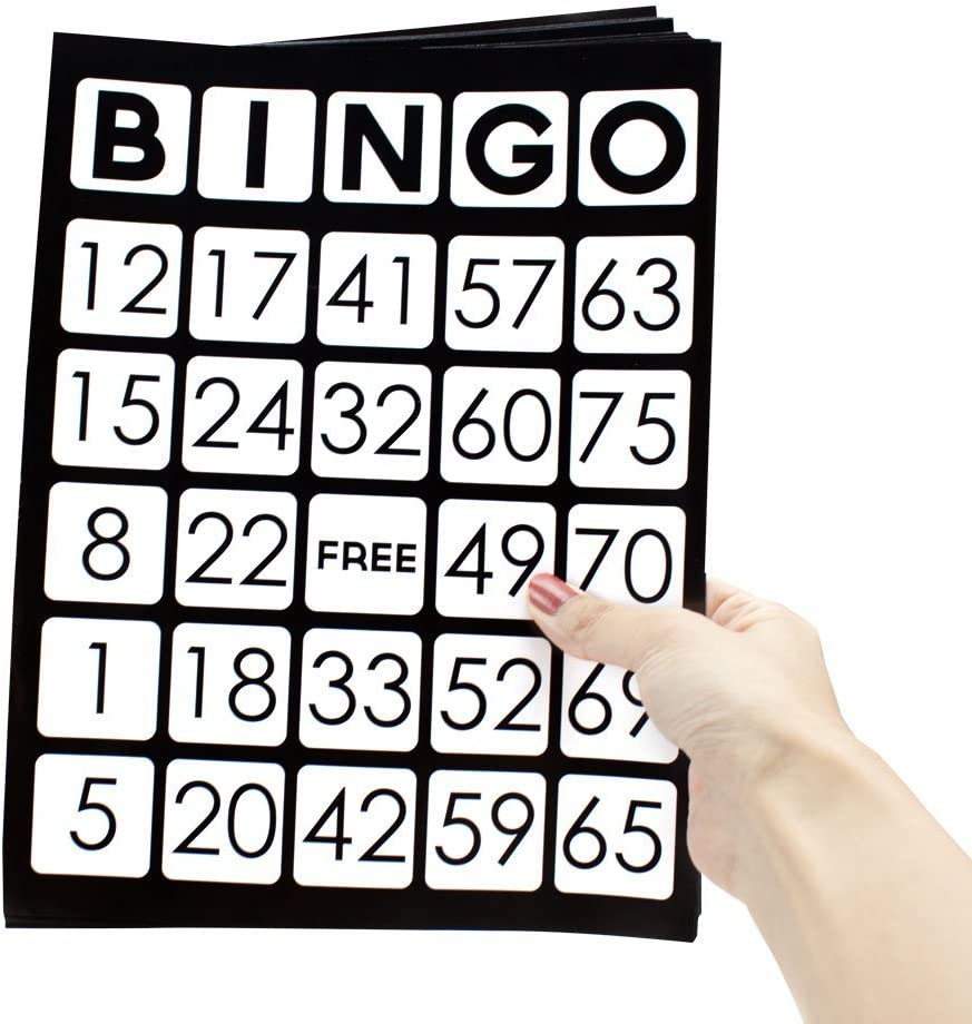 RBS EZ Readers Jumbo Bingo Cards with Numbers of Gorgeous Virginia Beach Mall Pack 2 - Unique