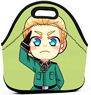 KILILY Germany - Hetalia Men Women Kids Insulated Lunch Bag Tote Reusable Lunch Box For Work Picnic School