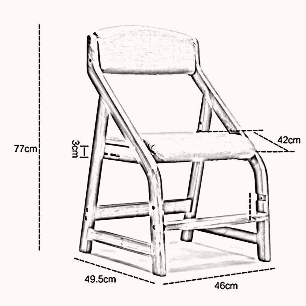 A/N Bois Tabouret Tabouret Robuste Pieds Pouf Tabouret Rond - Tabouret RéGlable en Bois Massif à La Mode Et Simple/Chaise D'éTude pour Dossier éTudiant-ré L