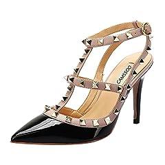b5b425cb5fcc T strap Pointed toe Stiletto Pumps Shoes - Casual Women s Shoes