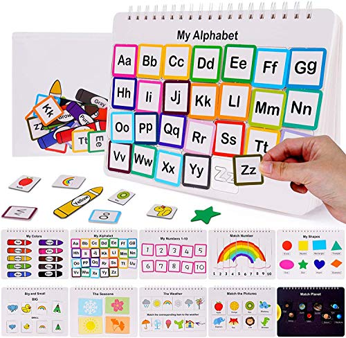 HAN-MM Preschool Montessori Toys Toddler Toys for Kids Learning Toys Busy Board Busy Book Toddler Learning Binder Sturdy for Toddlers Book Activity Educational