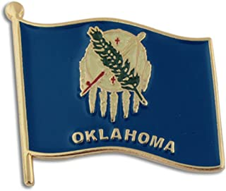 "PinMart Oklahoma US State Flag OK Enamel Lapel Pin 1"""