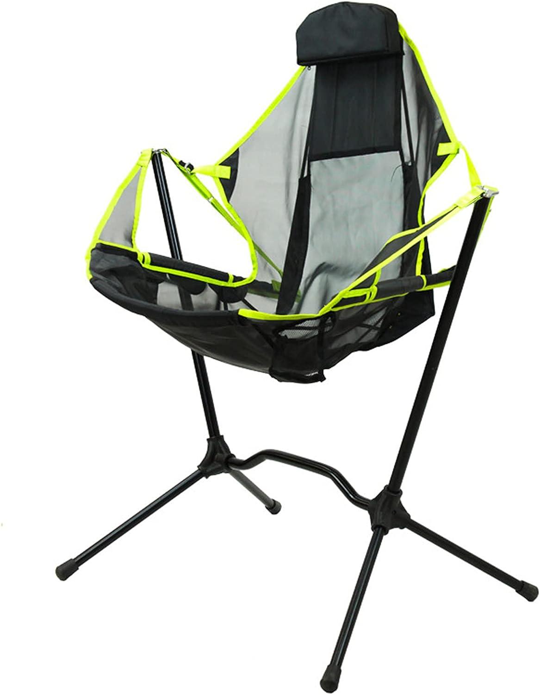 HUWENJUN123 Portable mart Folding Beach Moon Fo Chair Finally resale start Swinging