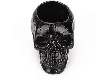 Womdee Skull Pen Holder for Desk Funny Halloween Skeleton Candy Bowl Makeup Brushes Organizer and Accessories,Black