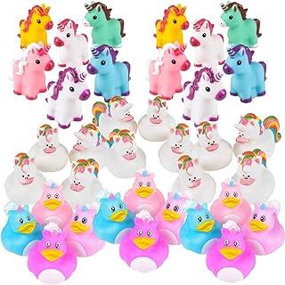 Unicorn Party Supplies - 36 Piece Unicorn Rubber Ducks & Vinyl Squirt Toys Variety Assortment Pack - Girls Birthday Party ...