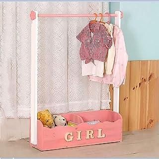 Porte manteau Porte-manteau pour enfants en bois massif, Cintre amovible pour chambre à coucher multifonctionnelle, Armoir...