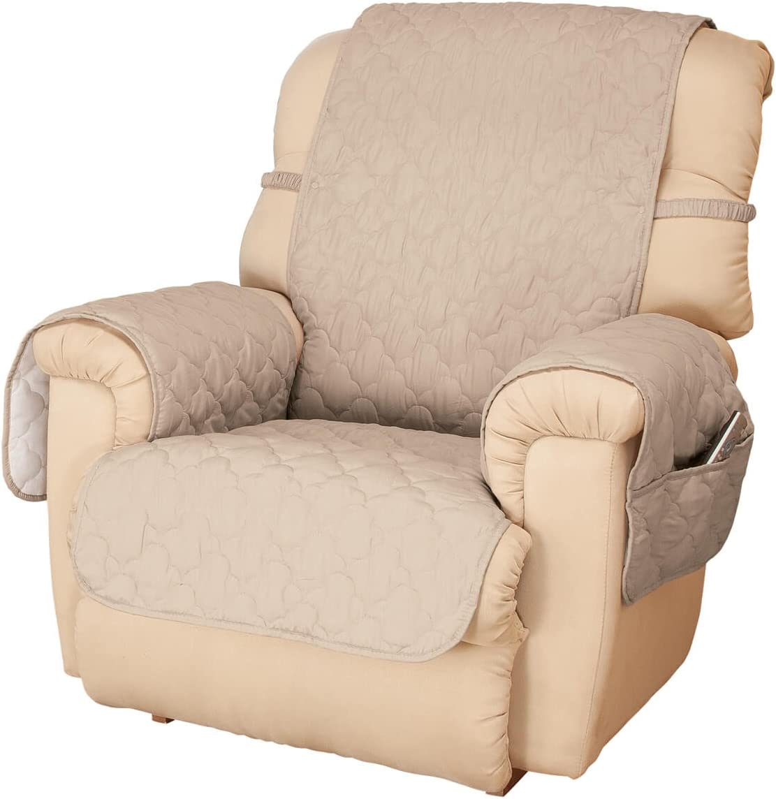 Bargain OakRidge Deluxe Microfiber Recliner Chair Beige Cover trust
