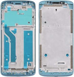 Mobile Phones Communication Accessories Front Housing LCD Frame Bezel Plate for Motorola Moto E5 Plus (Color : Blue)