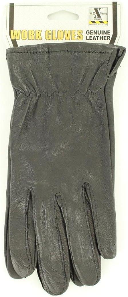 M & F Western Women's Hd Xtreme Goatskin Ladies Gloves Black Large