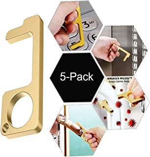 No Touch Door Opener [5PCS] Portable Stick for Push The Elevator Button Keep Hands Clean,EDC Door Handle Tool Avoid Body Direct Touch Reusable Personalized No Contact Door Opener [Easy to Carry]
