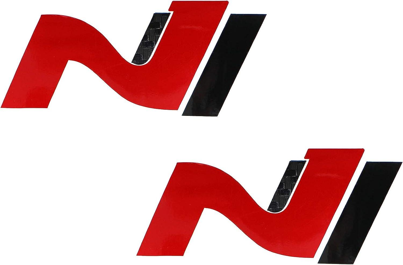Juego de 2 l/áminas protectoras para decoraci/ón de logotipo delantero y trasero ajuste perfecto blanco brillante K054 autoadhesivas