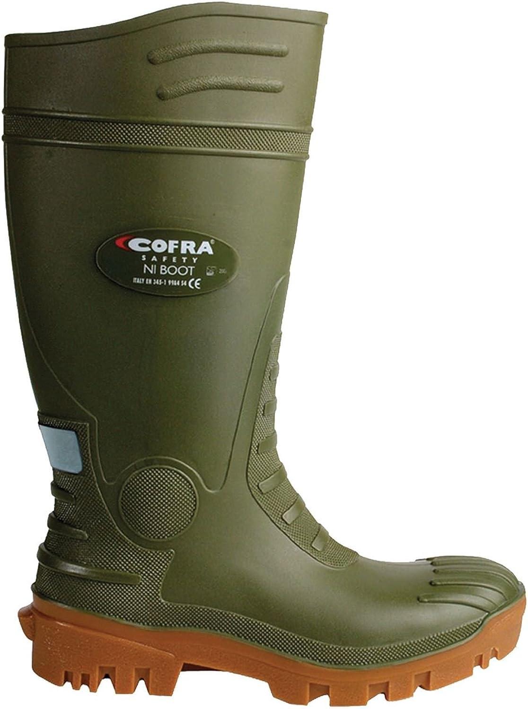 Cofra Typhoon S5 Green PVC Safety Wellington 00300-011 UK 9Green