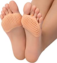 Metatarsal Pads Ball of Foot Cushions - 2 Pairs Soft Gel Reusable Breathable Sleeve Pads, Forefoot Cushioning Shoe Support...