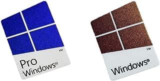 Microsoft Windows 10 Pro Windows 10 Logo Laptop Replacement Sticker Case Badge - Authentic Hologram (Windows 10 Pro)