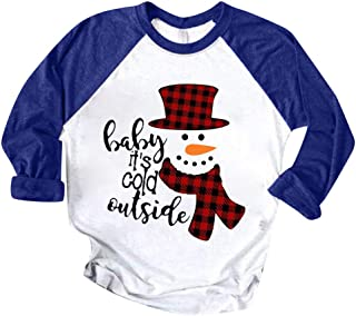Snowlike Pullover for Ladies,Christmas Women Color Patchwork Print Tops Hooded Pullover Blouse Casual Basic T-Shirts