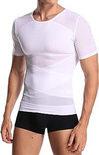 Men Body Shaper Waist Trainer Shapewear Gynecomastia Chest Tummy Control T Shirt Compression Tops Posture Corrector Unders...