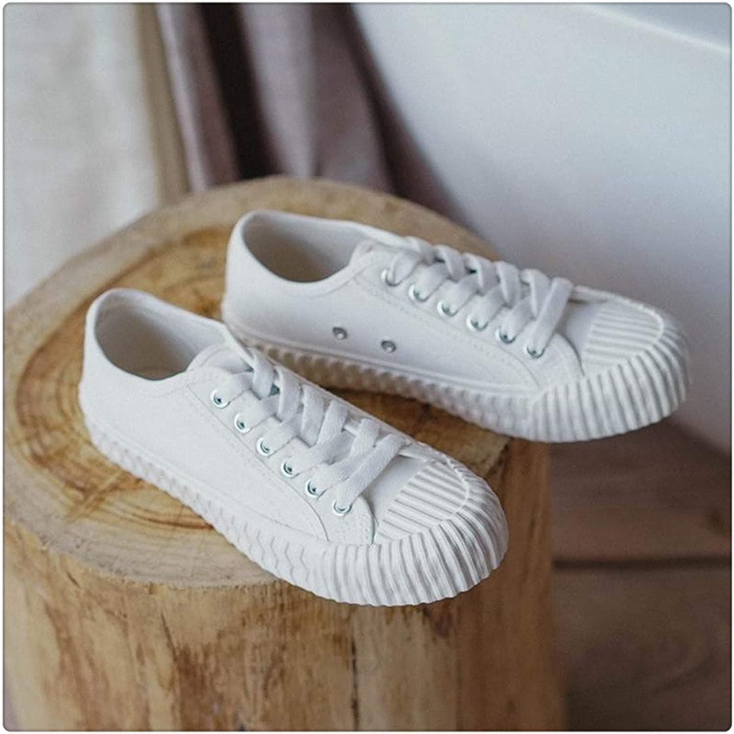 LUSDO& Women Casual Sneakers 2019 White Canvas shoes Female Spring Summer Woman Students Walking shoes shoes Tenis Feminino White 40